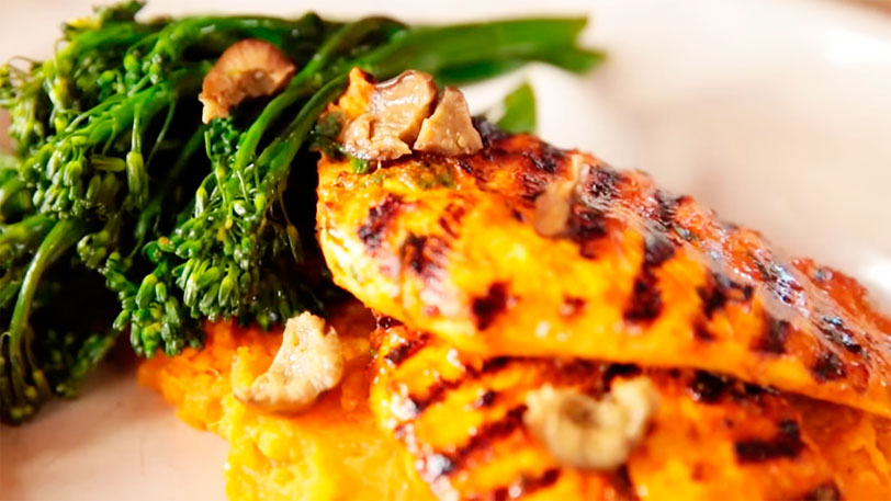 Smashed Lemon Chicken with Sweet Potato